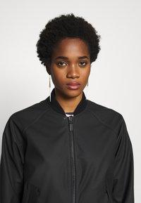 Hunter ORIGINAL - WOMENS ORIGINAL LIGHTWEIGHT JACKET - Faux leather jacket - black - 3