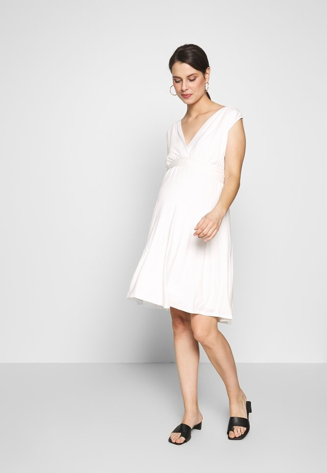 ROMIA TANK MATERNITY DRESS - Jerseykjole - off white