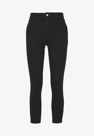 MID RISE CROPPED SUPER STRETCH - Skinny džíny - black