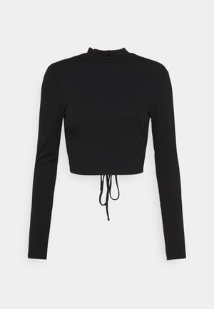 EXCLUSIVE STRAPPDY - Long sleeved top - black