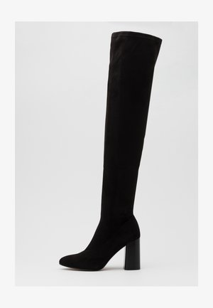 ONLBRODIE LIFE STACKED BOOT  - Over-the-knee boots - black