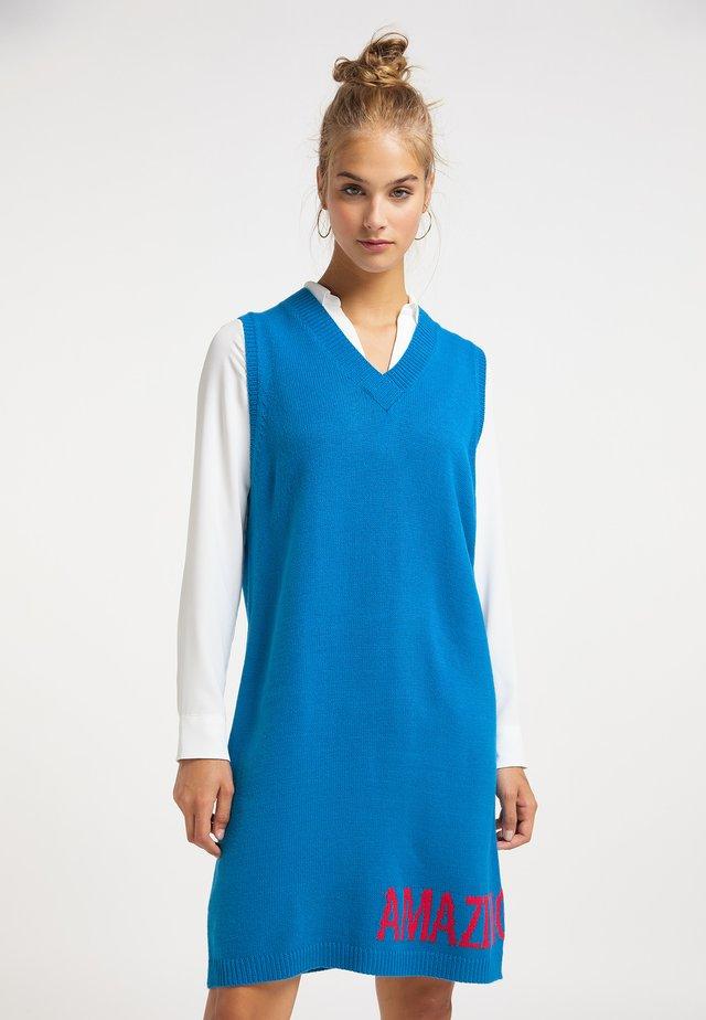 Gebreide jurk - classic blue