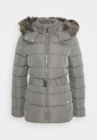 New Look Tall - FITTED PADDED PUFFER - Zimní bunda - dark grey - 0