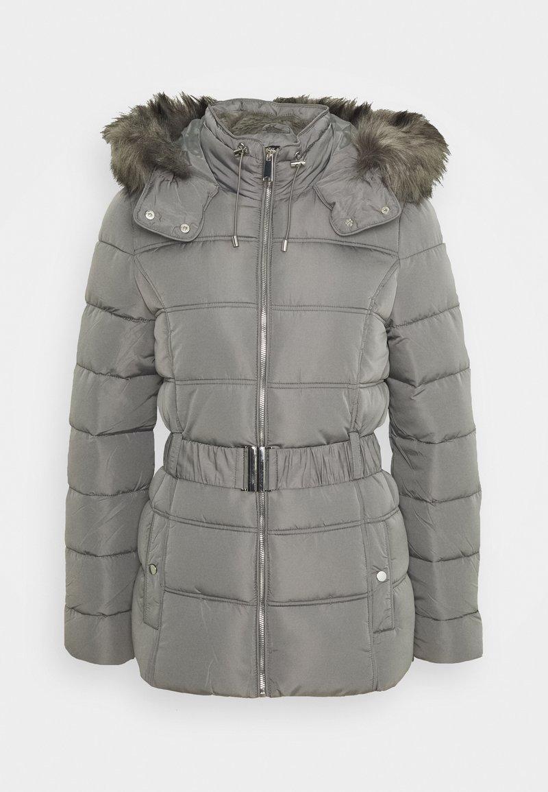 New Look Tall - FITTED PADDED PUFFER - Zimní bunda - dark grey