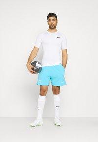 Nike Performance - FC BARCELONA SHORT - Club wear - lagoon pulse/white - 1