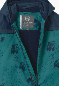 Color Kids - DOTS UNISEX - Snowsuit - dark green/dark blue - 3