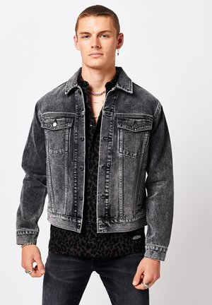 TRUCKER - Denim jacket - joey black overdyed