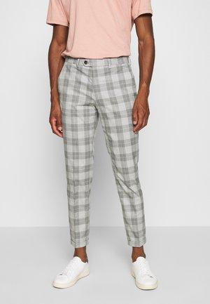 JPRCANE CHECK  - Oblekové kalhoty - light grey melange