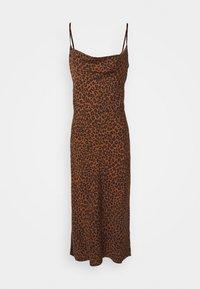 LEOPARD SLIP DRESS - Denní šaty - chai