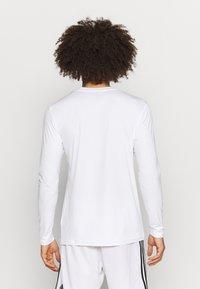 adidas Performance - TEAM BASE TEE - Long sleeved top - white - 2