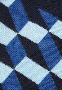 Happy Socks - FILLED OPTIC SOCK UNISEX 2 PACK - Calze - blue/grey - 1