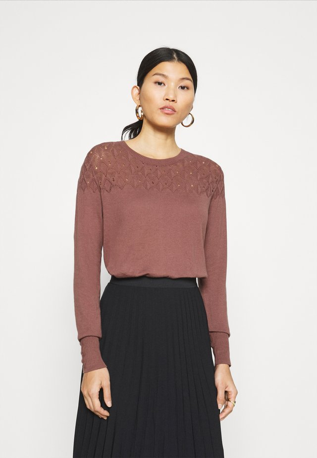 ESSENTIAL - Pullover - brown rose