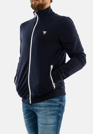 veste en sweat zippée - bleu
