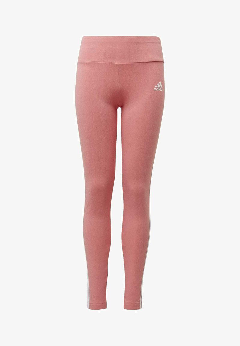 adidas Performance - STRIPES COTTON LEGGINGS - Leggings - pink