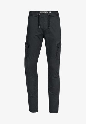 BROADWICK - Cargo trousers - black