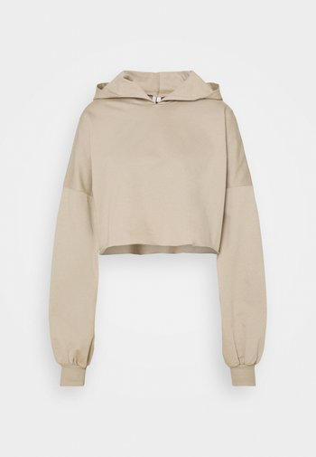 DROPPED CROPPED HOODIE