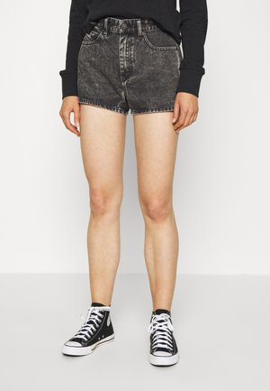 D-ISI-SHORT - Denim shorts - washed black
