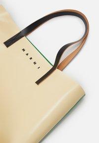 Marni - UNISEX - Tote bag - soft beige/garden green/black - 5