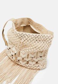 Alberta Ferretti - CROCHET SHOULDER BAG - Tote bag - beige - 2