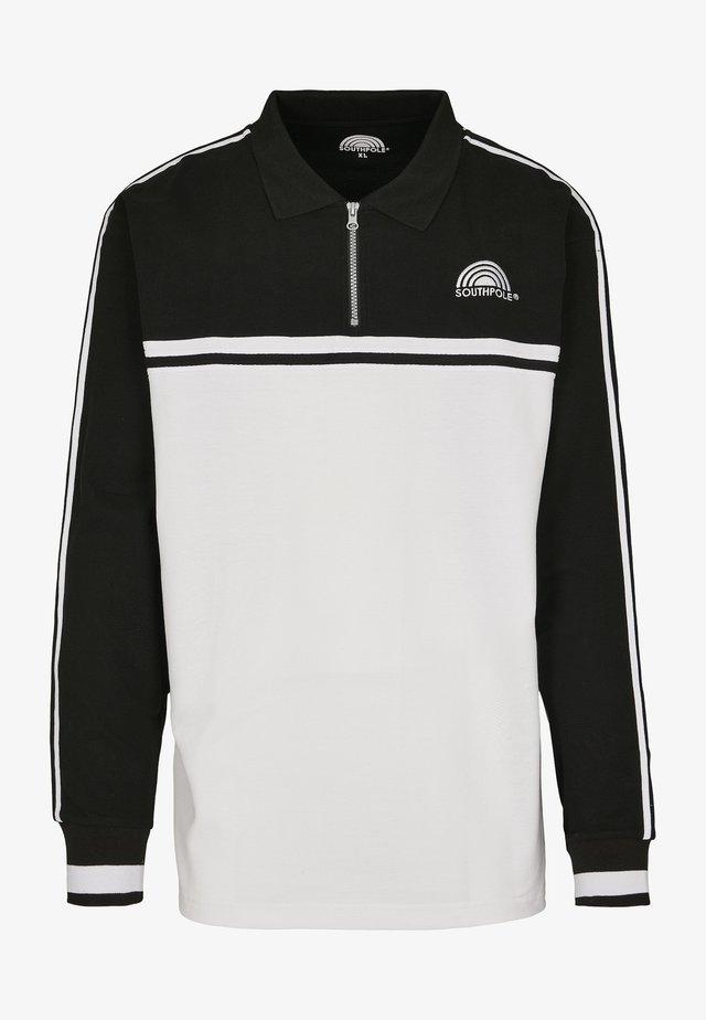 SOUTHPOLE HERREN SOUTHPOLE LOGO TAPE LONGSLEEVE - Sweatshirt - white/black
