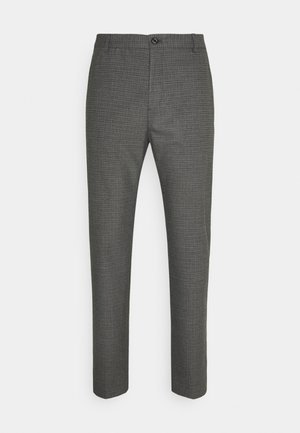 CHECK STRETCH PANTS - Pantaloni - grey