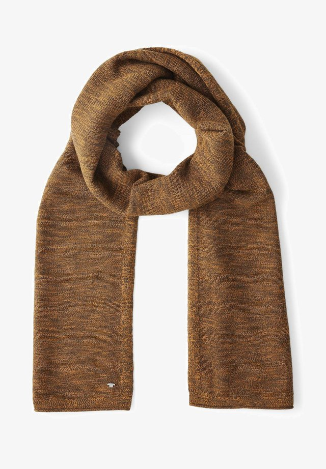 Scarf - orange brown slub