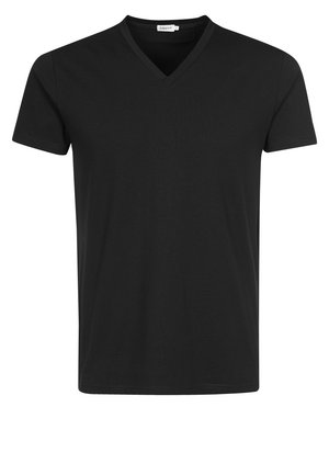 SOFT LYCRA NECK - Basic T-shirt - black