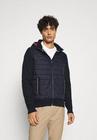 Tommy Hilfiger - MIXED MEDIA HOODED ZIP THROUGH - Light jacket - blue - 0