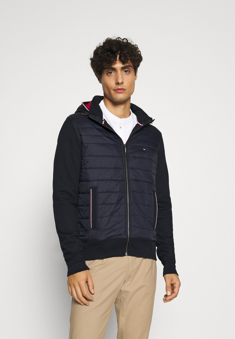 Tommy Hilfiger - MIXED MEDIA HOODED ZIP THROUGH - Light jacket - blue