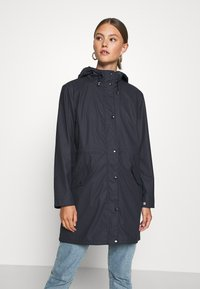 Vero Moda - VMFRIDAYMUSIC COATED JACKET - Regnjakke / vandafvisende jakker - night sky - 0