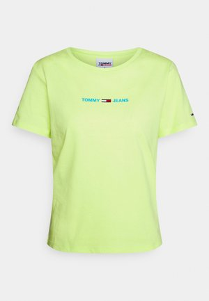 SLIM MULTI LINEAR LOGO - Print T-shirt - faded lime