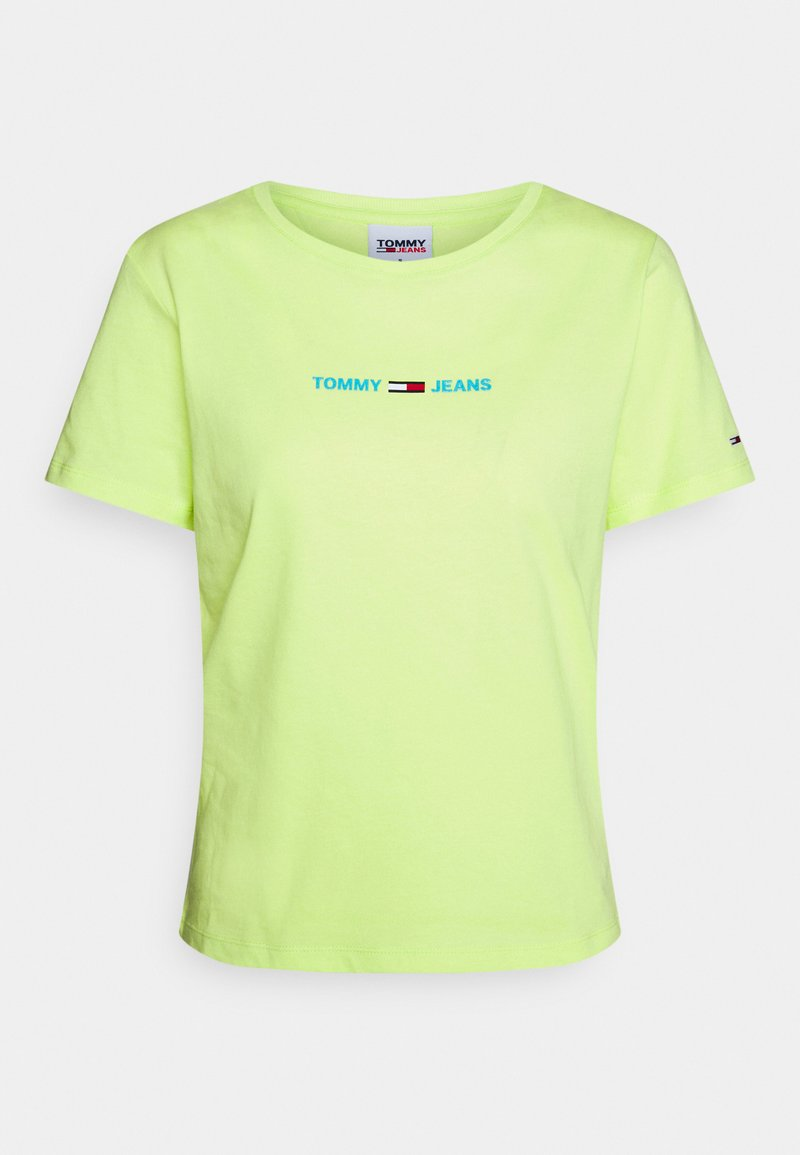 Tommy Jeans - Triko s potiskem - faded lime