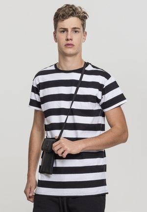 BLOCK STRIPE TEE - T-shirt imprimé - black/white