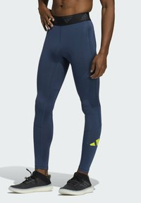 adidas Performance - TURF 3 BAR LT PRIMEGREEN TECHFIT WORKOUT COMPRESSION LEGGINGS - Collants - blue - 0