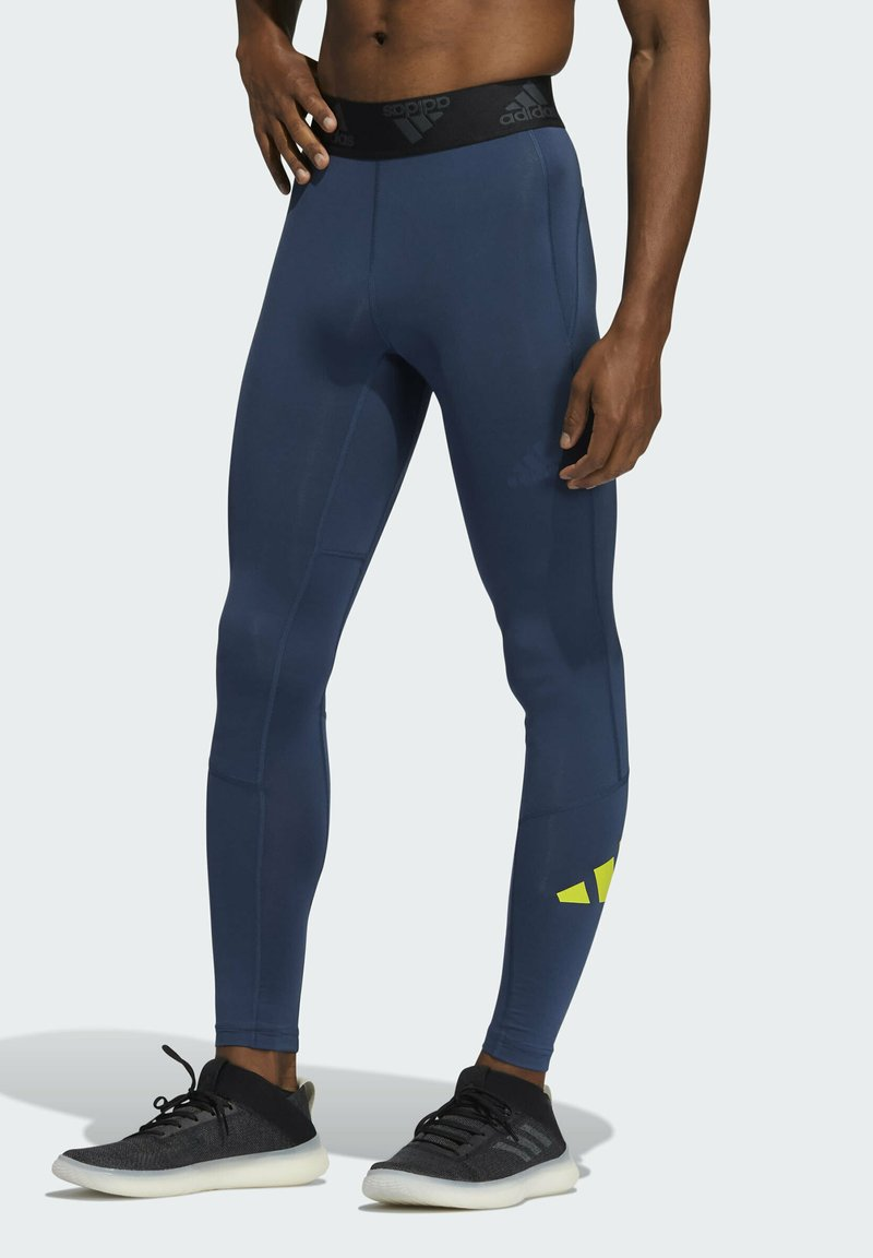adidas Performance - TURF 3 BAR LT PRIMEGREEN TECHFIT WORKOUT COMPRESSION LEGGINGS - Collants - blue