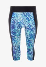 CURVE ABSTRACT CROPPED LEGGINGS - Leggings - blue