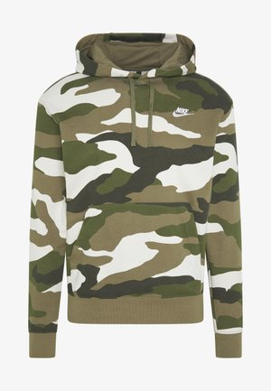 CLUB  CAMO - Hoodie - medium olive/white