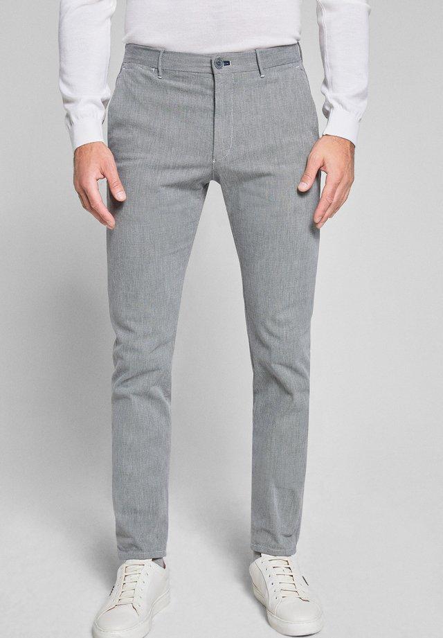 STEEN - Chinos - grau-weiß gemustert