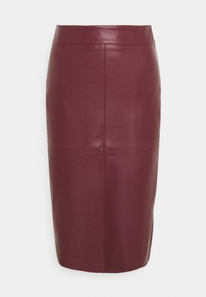SEAM DETAIL SKIRT - Gonna a campana - purple