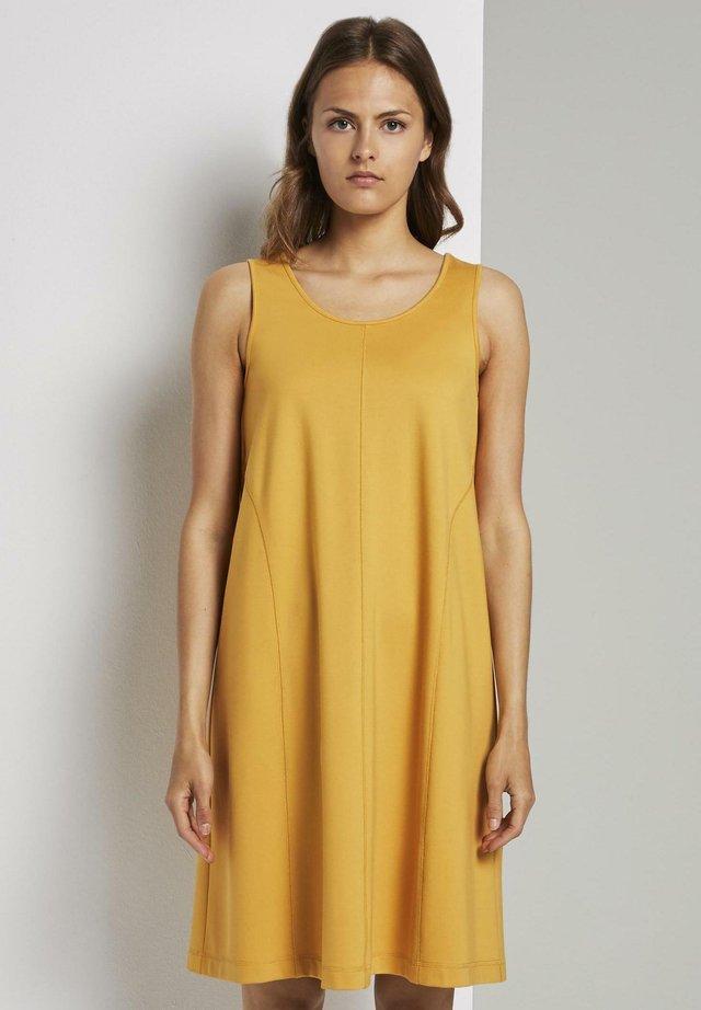 Jersey dress - golden corn