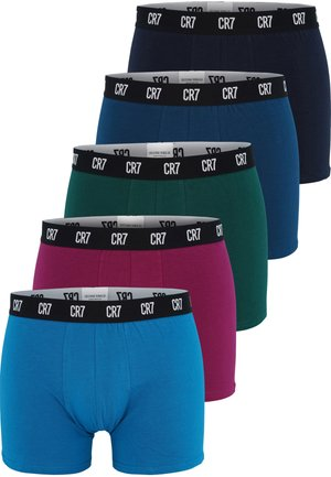 5 PACK - Pants - blue/red/green