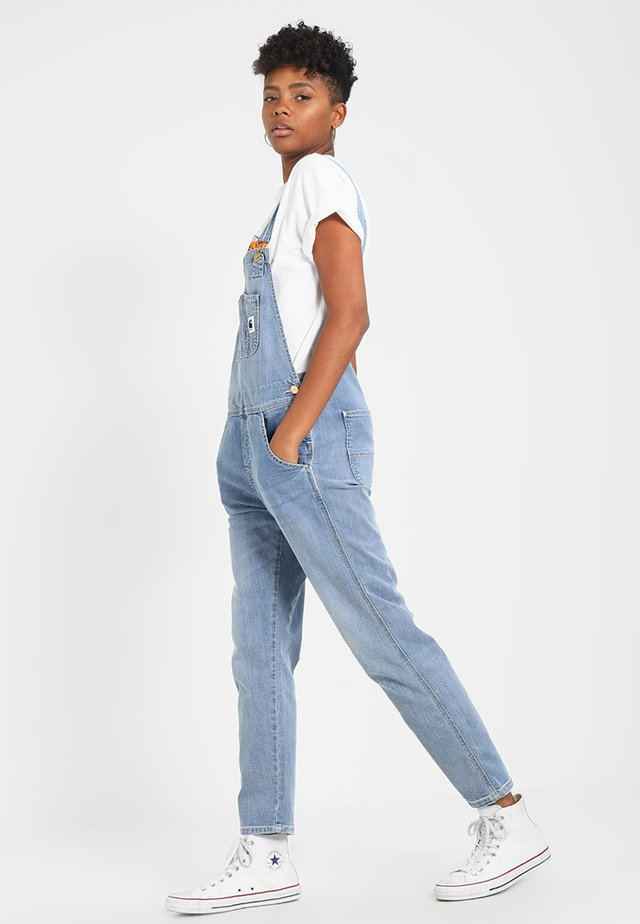 OVERALL - Salopette - blue light stone washed