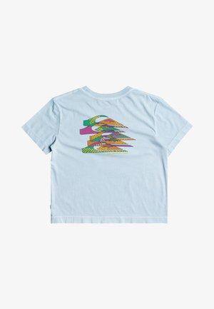 Print T-shirt - crystal blue