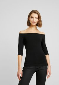 Even&Odd - 2 PACK - Long sleeved top - white/black