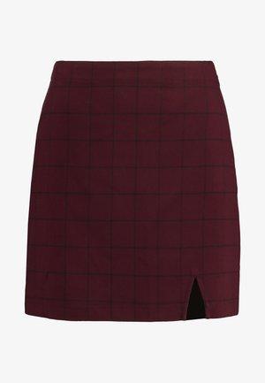 CHECK SKIRT - Mini skirt - purple