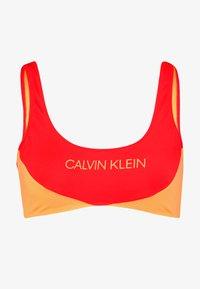 BLOCKING BRALETTE - Bikini top - fiery red