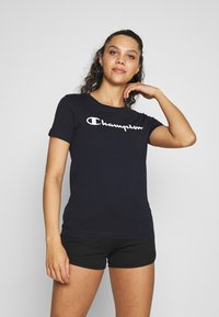 Champion - CREWNECK - T-shirts med print - navy - 0