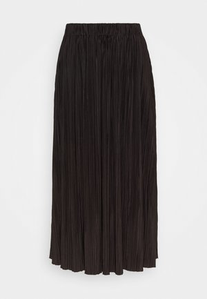 UMA SKIRT - Pleated skirt - mole