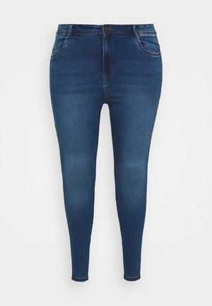 NMAGNES - Jeansy Skinny Fit - medium blue denim