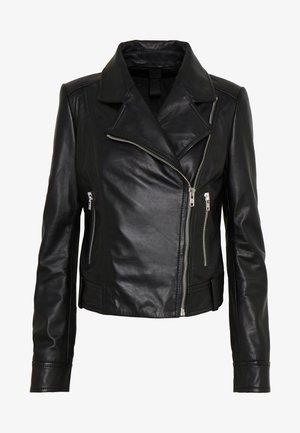 PAISLY - Kožená bunda - black